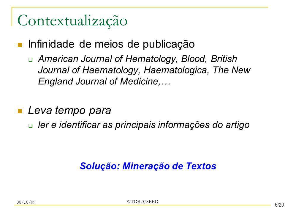 Solução: Mineração de Textos