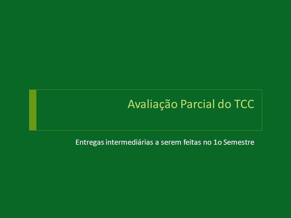 Avaliação Parcial do TCC