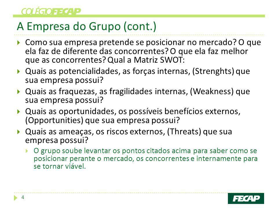 A Empresa do Grupo (cont.)