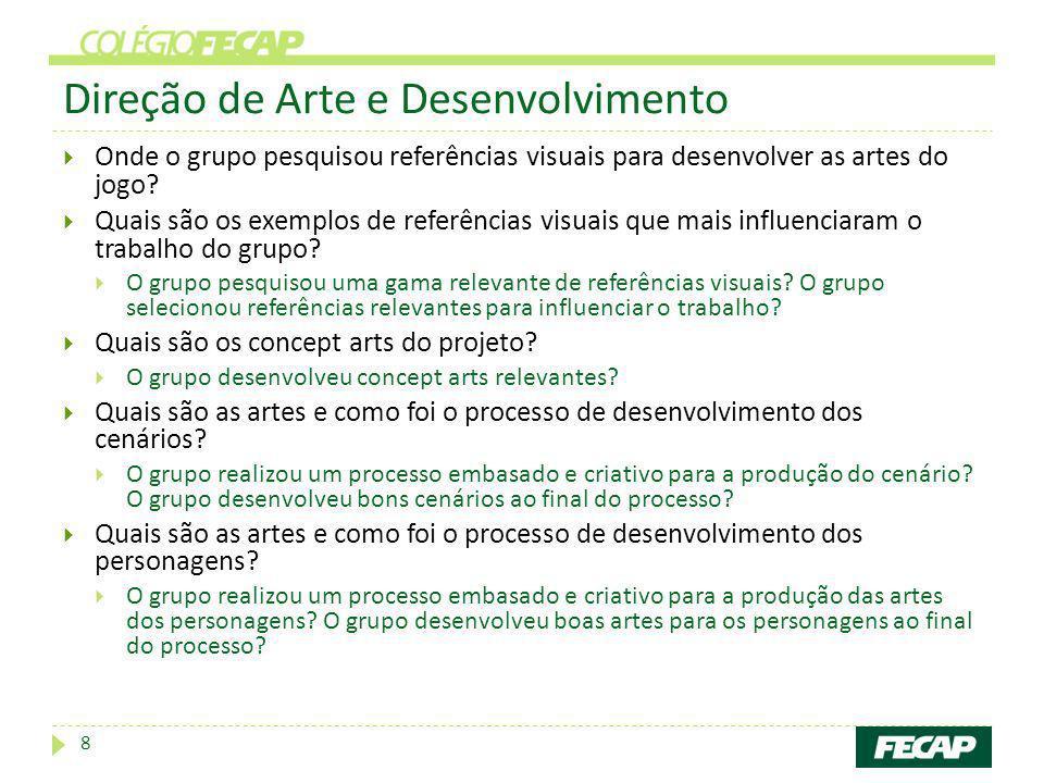 Direção de Arte e Desenvolvimento