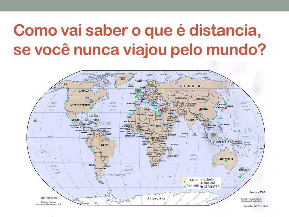 Como vai saber o que é distancia, se você nunca viajou pelo mundo