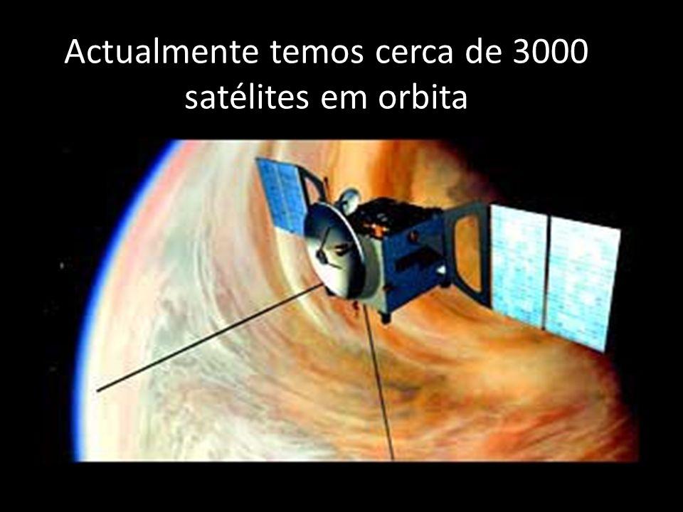 Actualmente temos cerca de 3000 satélites em orbita