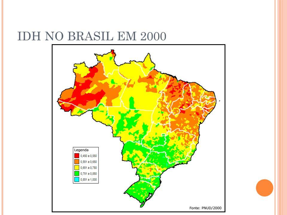 IDH NO BRASIL EM 2000