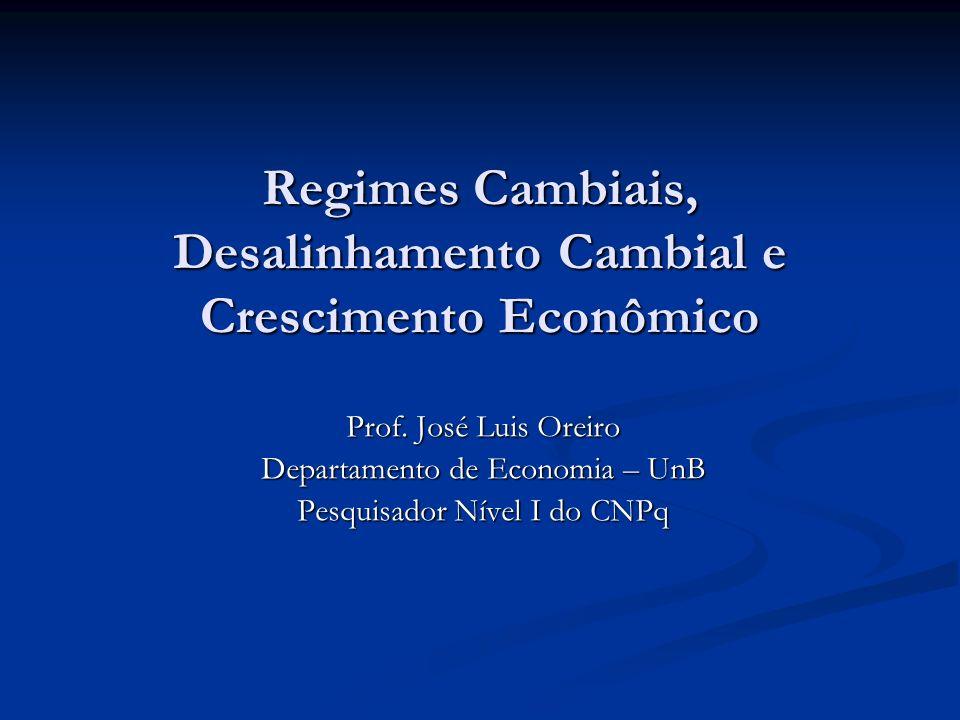 Regimes Cambiais, Desalinhamento Cambial e Crescimento Econômico