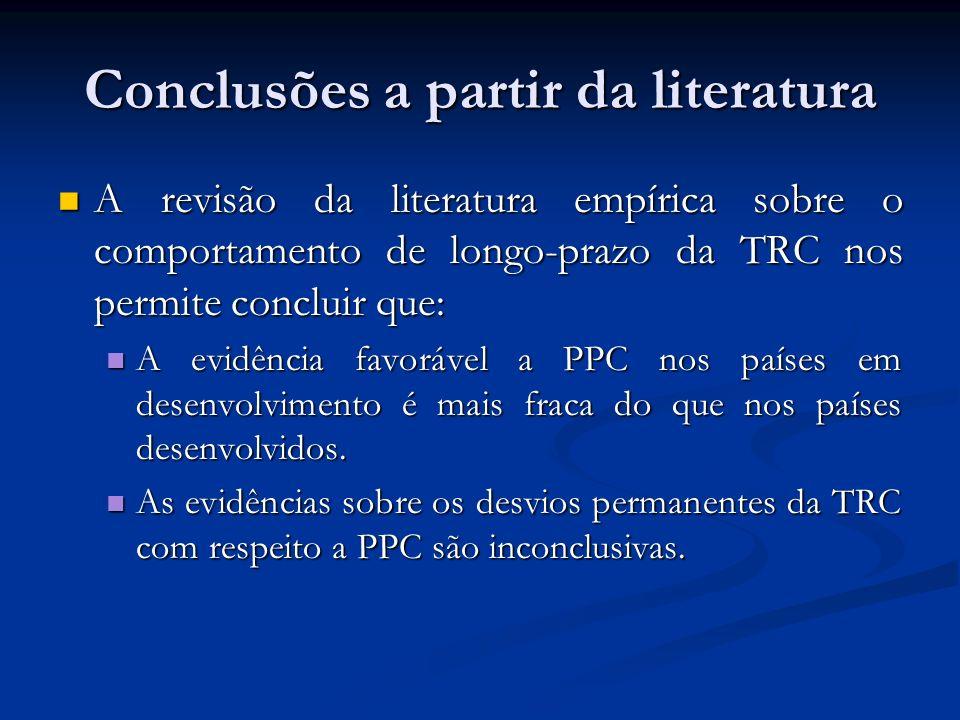 Conclusões a partir da literatura