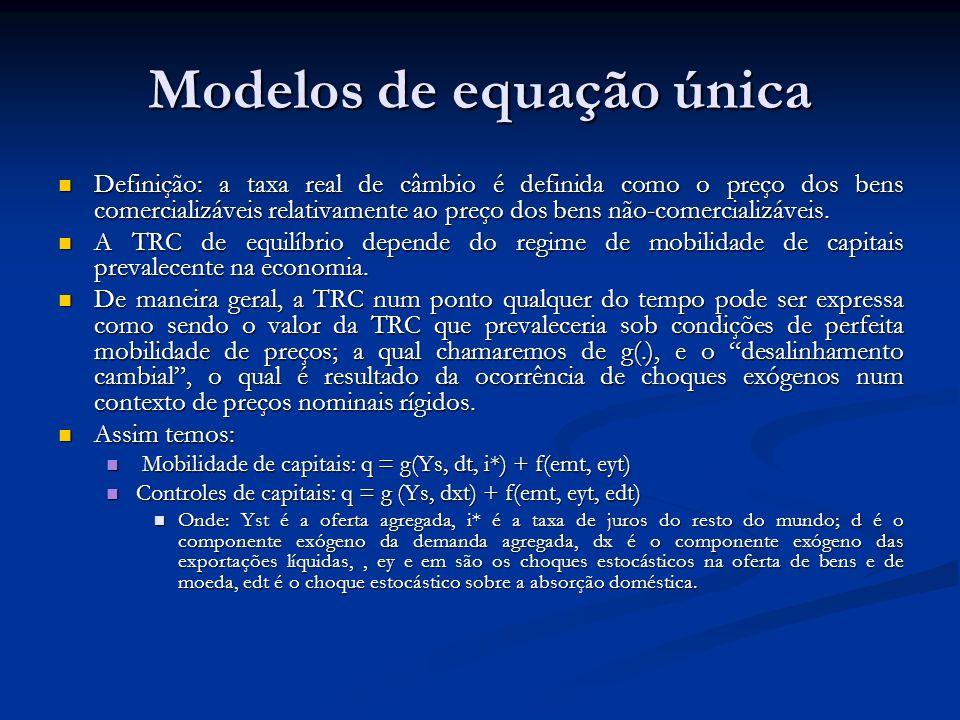 Modelos de equação única