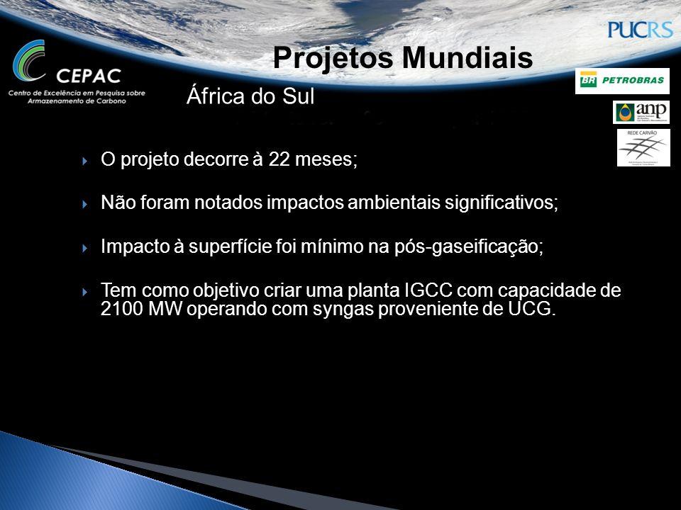 Projetos Mundiais África do Sul O projeto decorre à 22 meses;