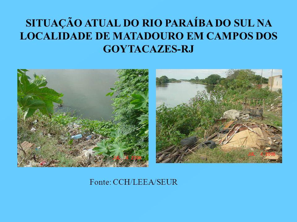 SITUAÇÃO ATUAL DO RIO PARAÍBA DO SUL NA LOCALIDADE DE MATADOURO EM CAMPOS DOS GOYTACAZES-RJ