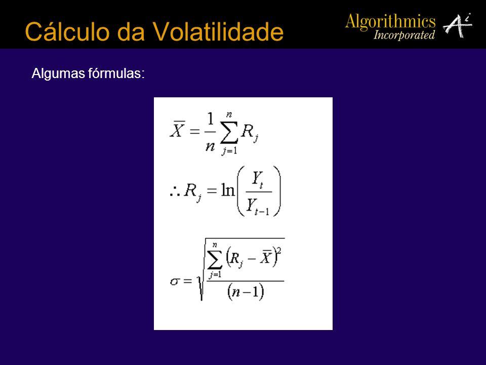 Cálculo da Volatilidade