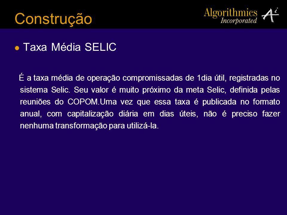 Construção Taxa Média SELIC