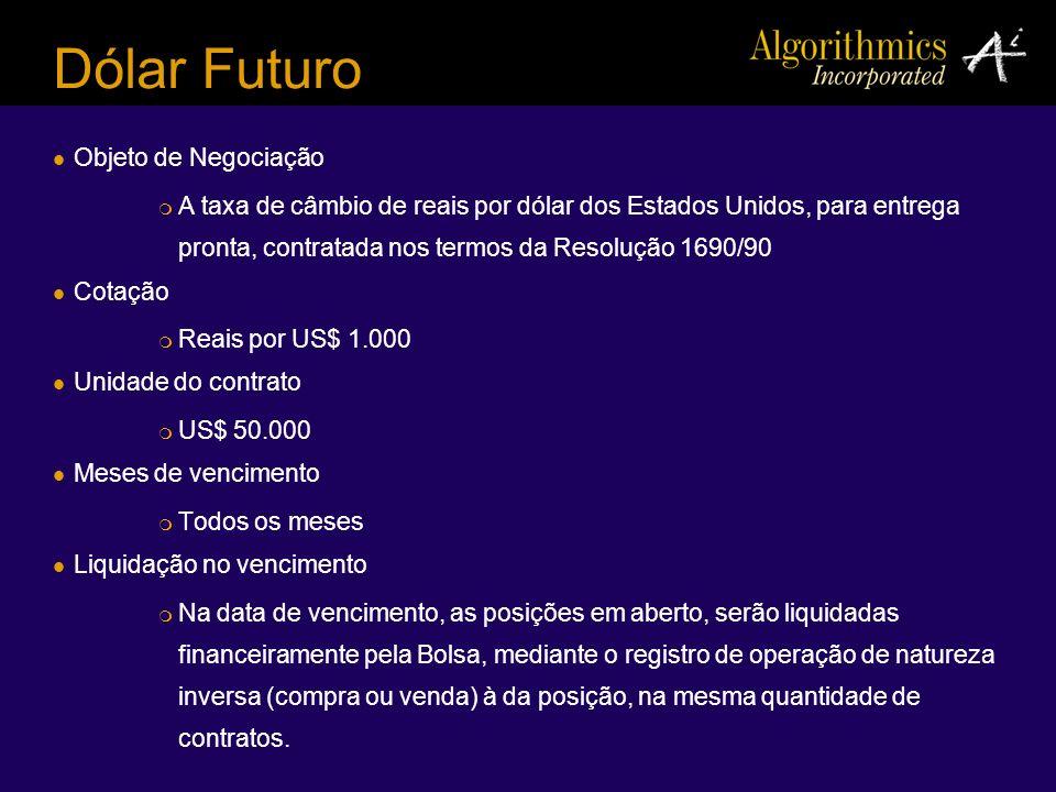 Dólar Futuro Objeto de Negociação