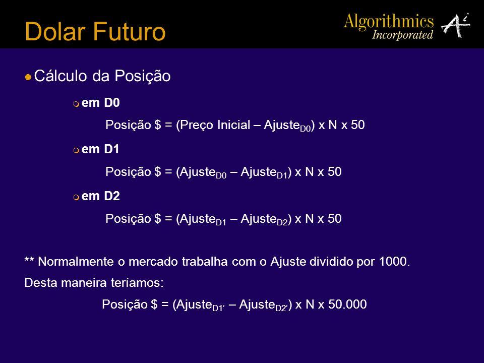 Dolar Futuro Cálculo da Posição em D0