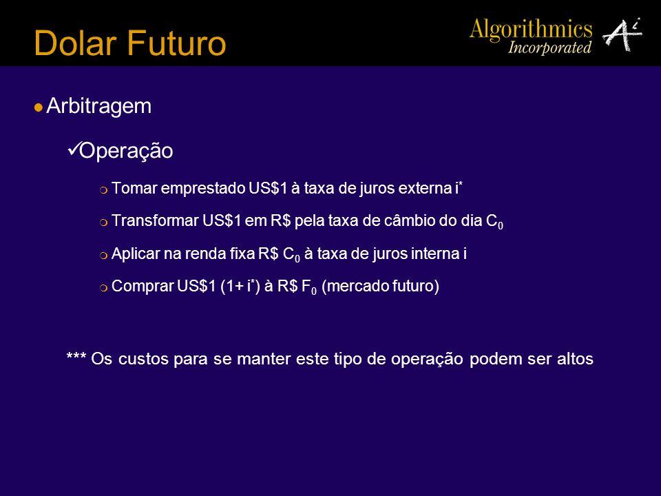 Dolar Futuro Arbitragem Operação