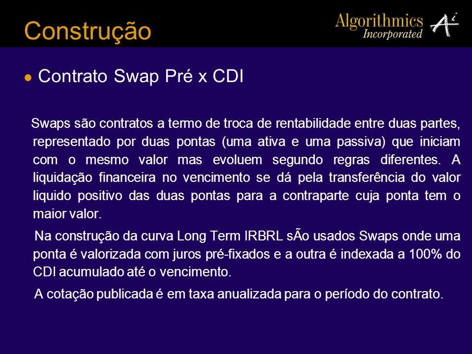 Construção Contrato Swap Pré x CDI