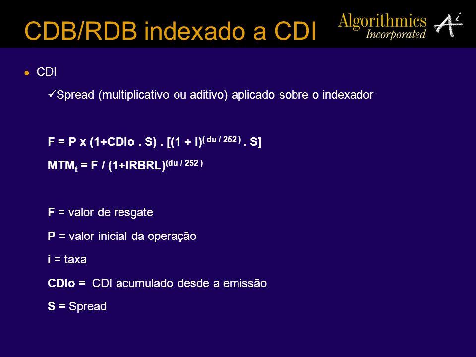 CDB/RDB indexado a CDI CDI