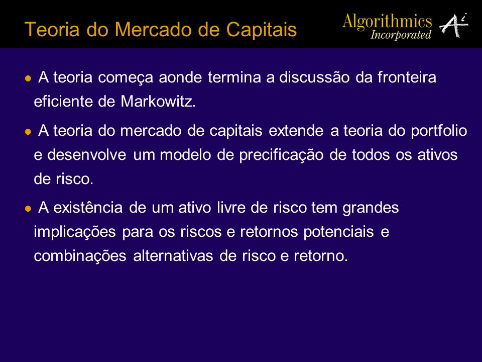 Teoria do Mercado de Capitais