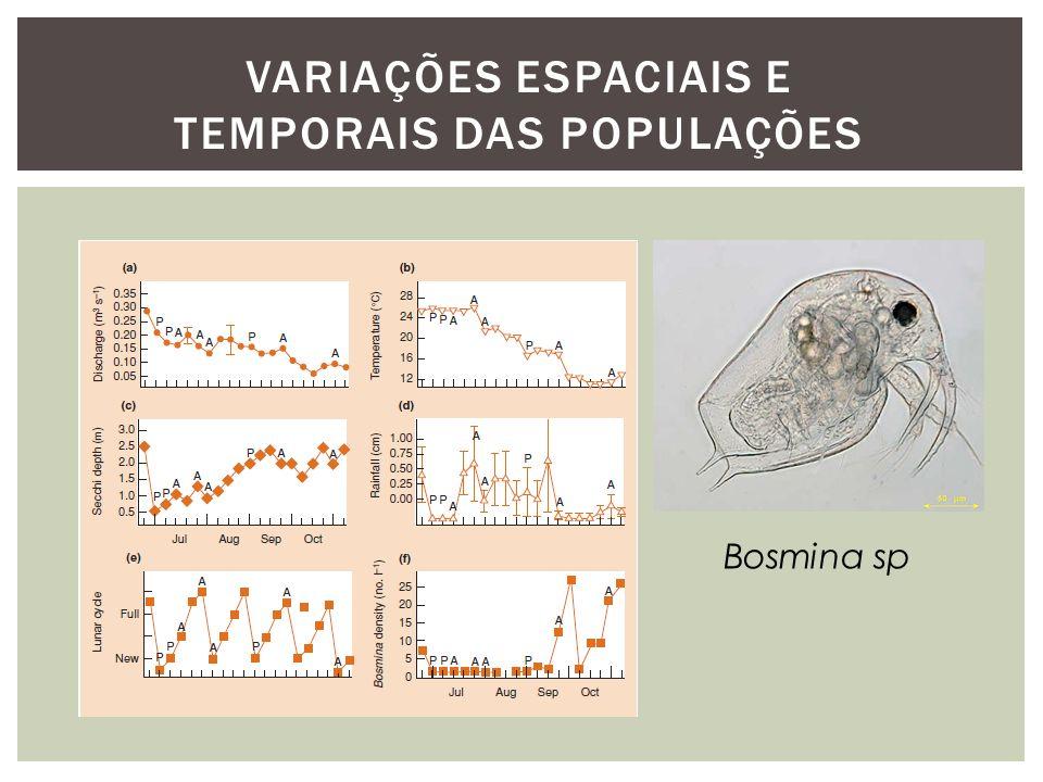 VARIAÇÕES ESPACIAIS E TEMPORAIS DAS POPULAÇÕES
