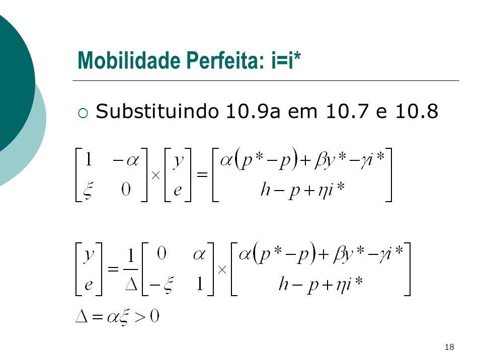 Mobilidade Perfeita: i=i*