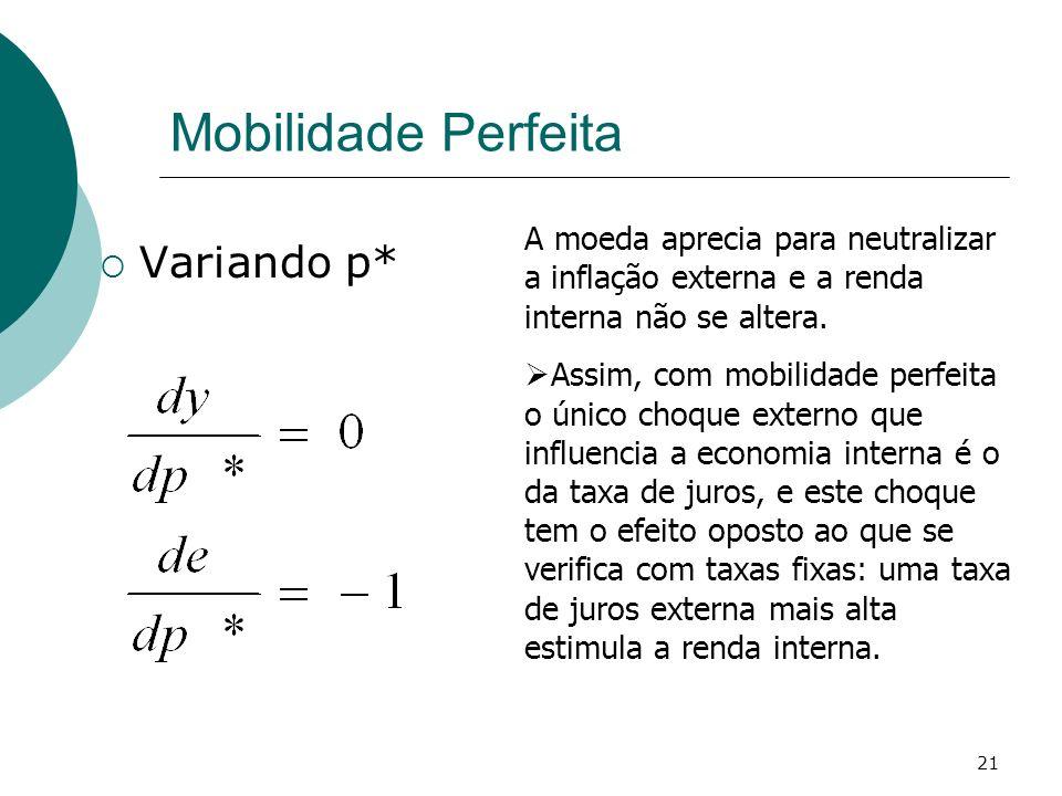 Mobilidade Perfeita Variando p*