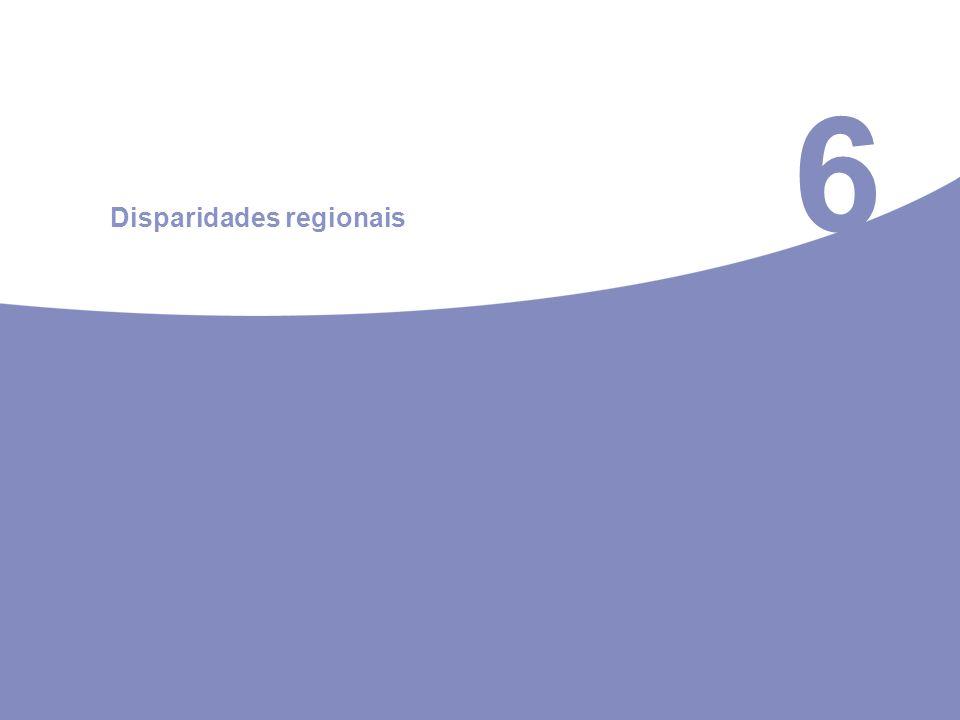 6 Disparidades regionais