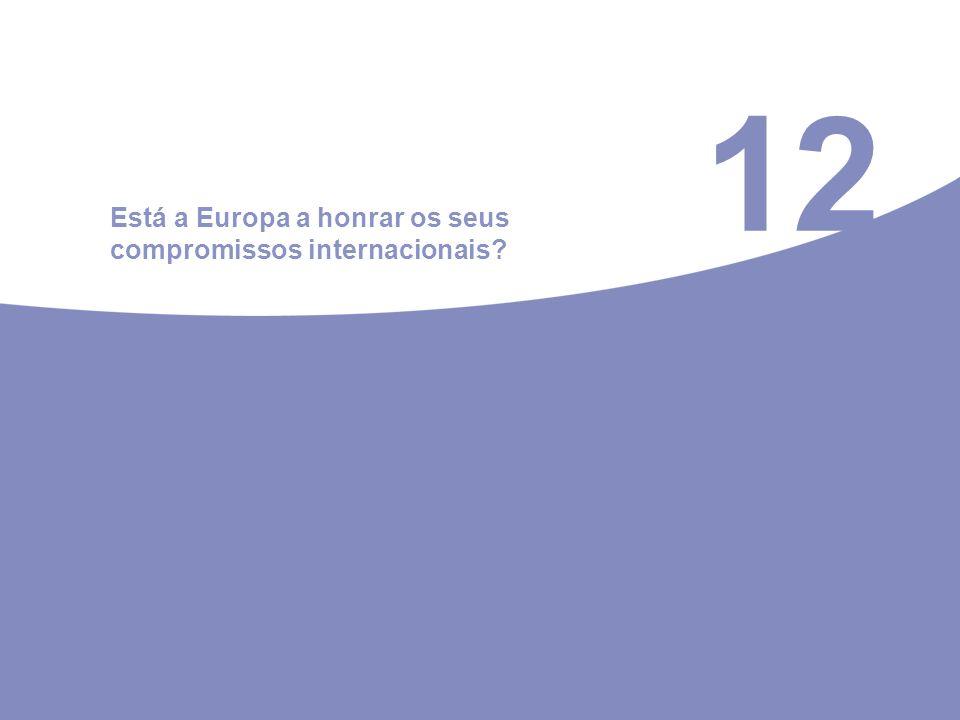 12 Está a Europa a honrar os seus compromissos internacionais