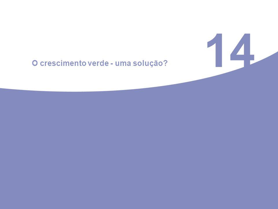 14 O crescimento verde - uma solução