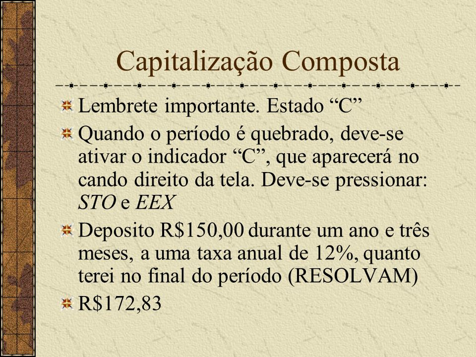 Capitalização Composta