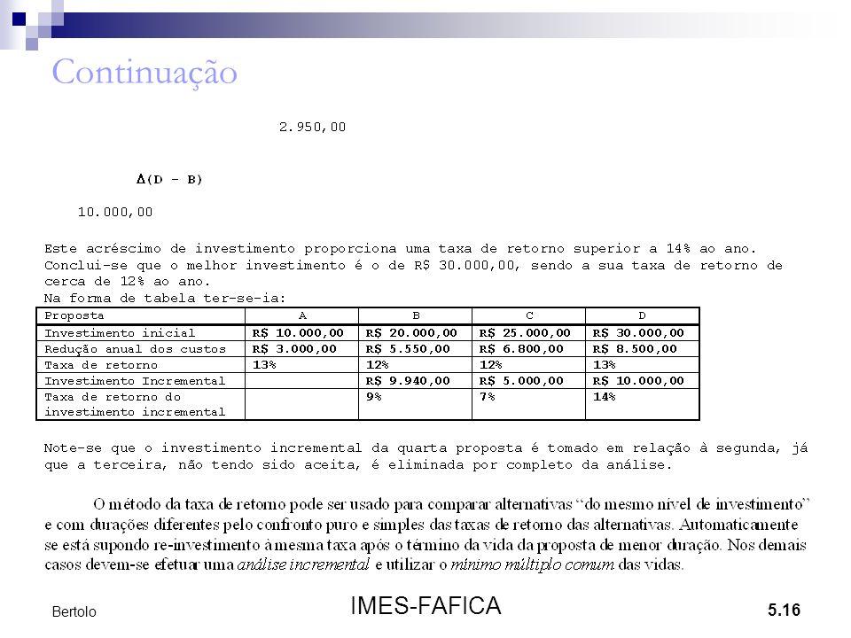 Continuação Bertolo IMES-FAFICA