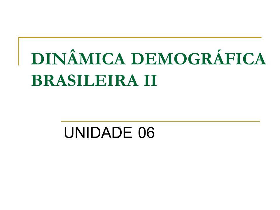 DINÂMICA DEMOGRÁFICA BRASILEIRA II