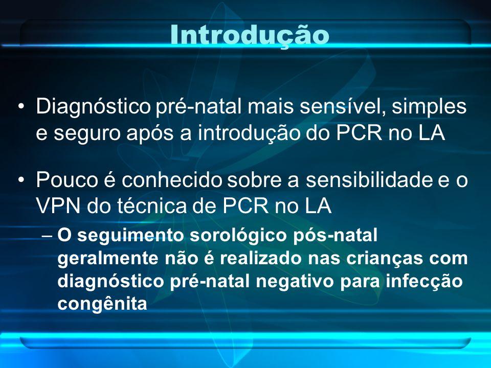 Introdução Diagnóstico pré-natal mais sensível, simples e seguro após a introdução do PCR no LA.