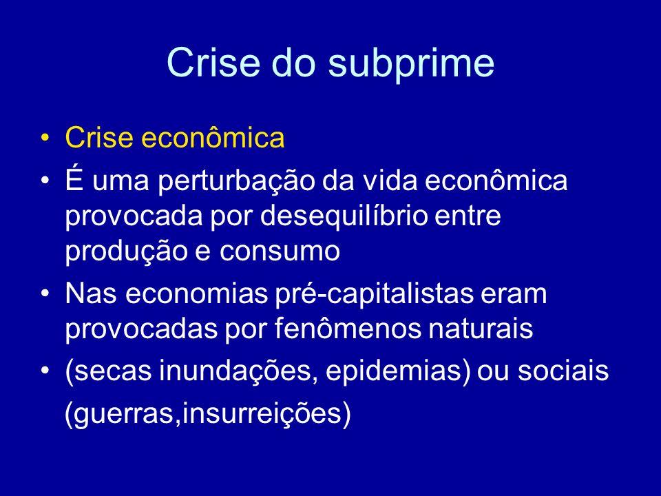 Crise do subprime Crise econômica