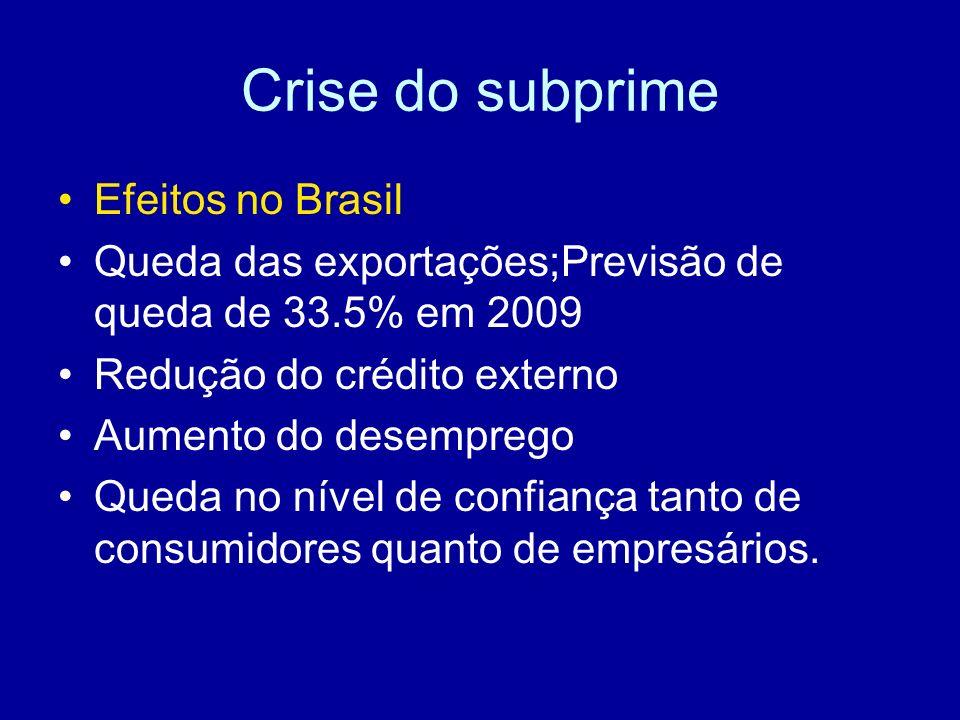 Crise do subprime Efeitos no Brasil