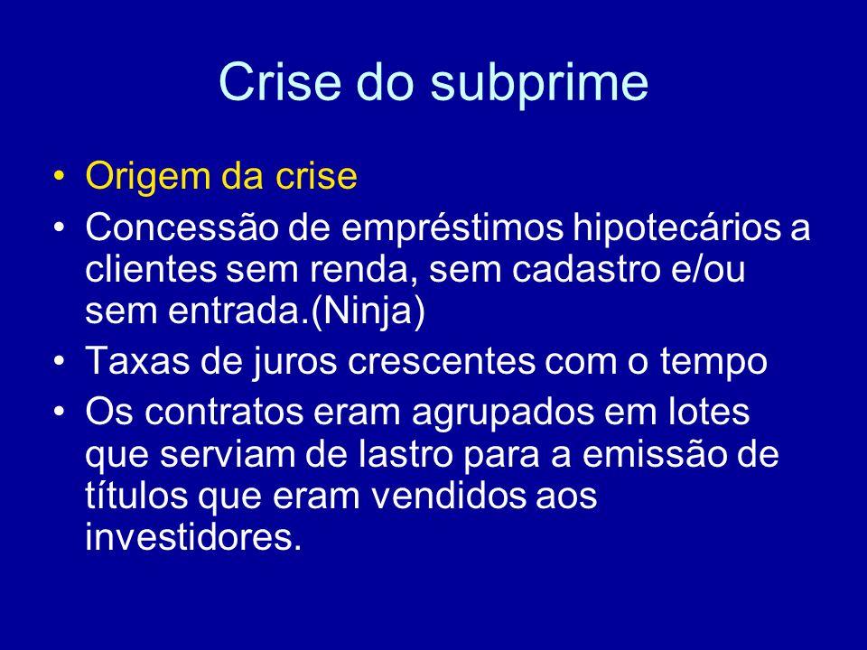 Crise do subprime Origem da crise