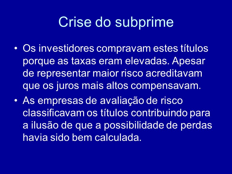 Crise do subprime