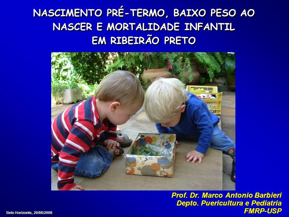 NASCIMENTO PRÉ-TERMO, BAIXO PESO AO NASCER E MORTALIDADE INFANTIL EM RIBEIRÃO PRETO