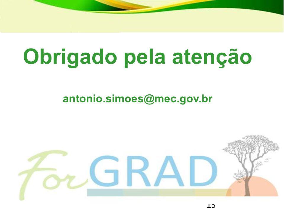 Obrigado pela atenção antonio.simoes@mec.gov.br