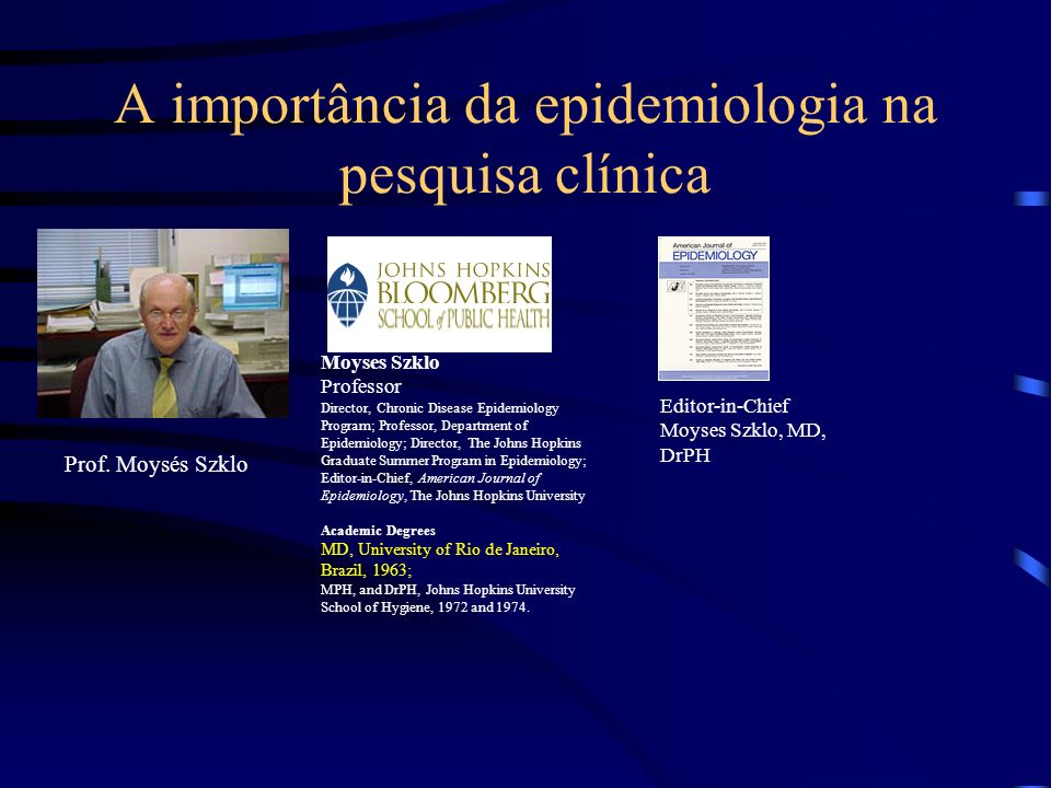 A importância da epidemiologia na pesquisa clínica