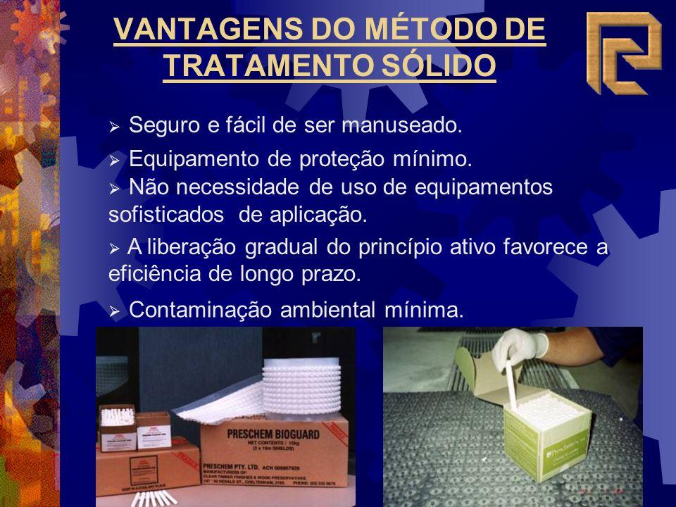 VANTAGENS DO MÉTODO DE TRATAMENTO SÓLIDO