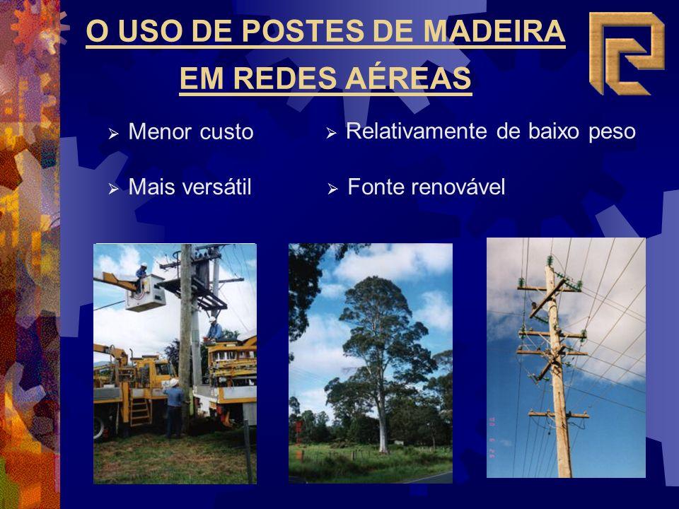 O USO DE POSTES DE MADEIRA EM REDES AÉREAS