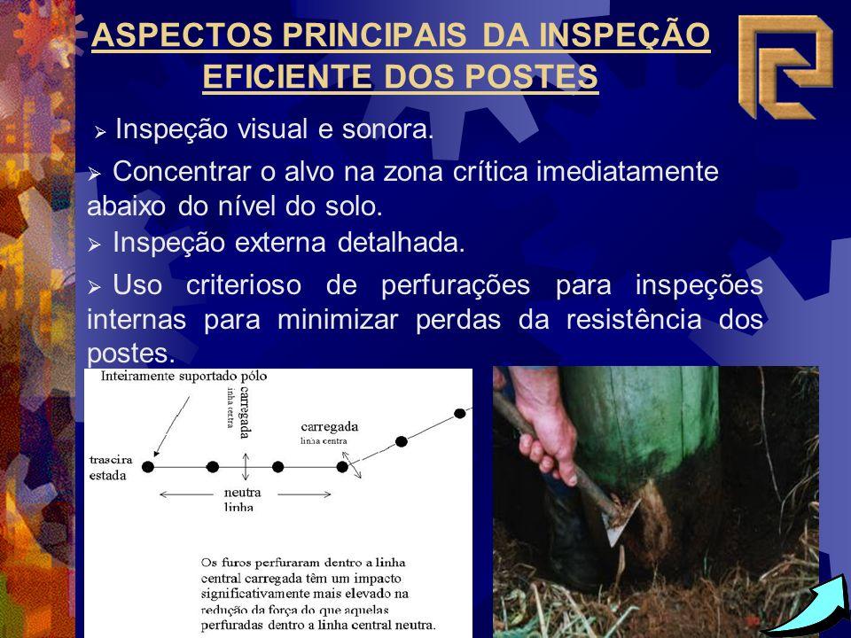 ASPECTOS PRINCIPAIS DA INSPEÇÃO EFICIENTE DOS POSTES