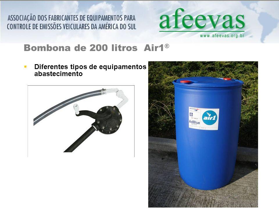 Bombona de 200 litros Air1® Diferentes tipos de equipamentos abastecimento