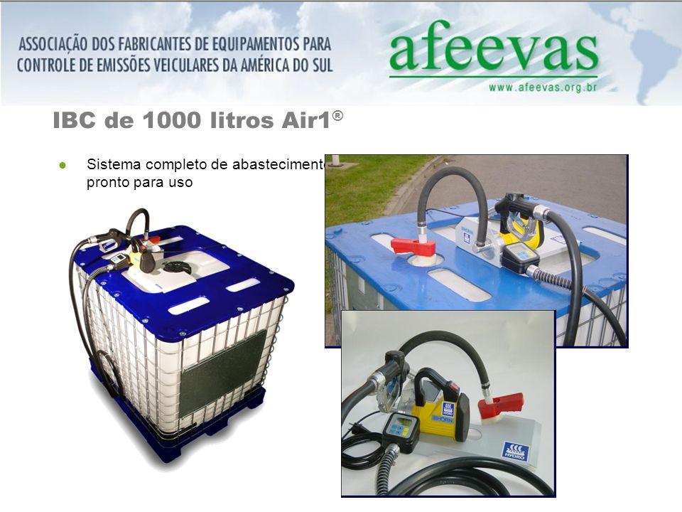 IBC de 1000 litros Air1® Sistema completo de abastecimento pronto para uso