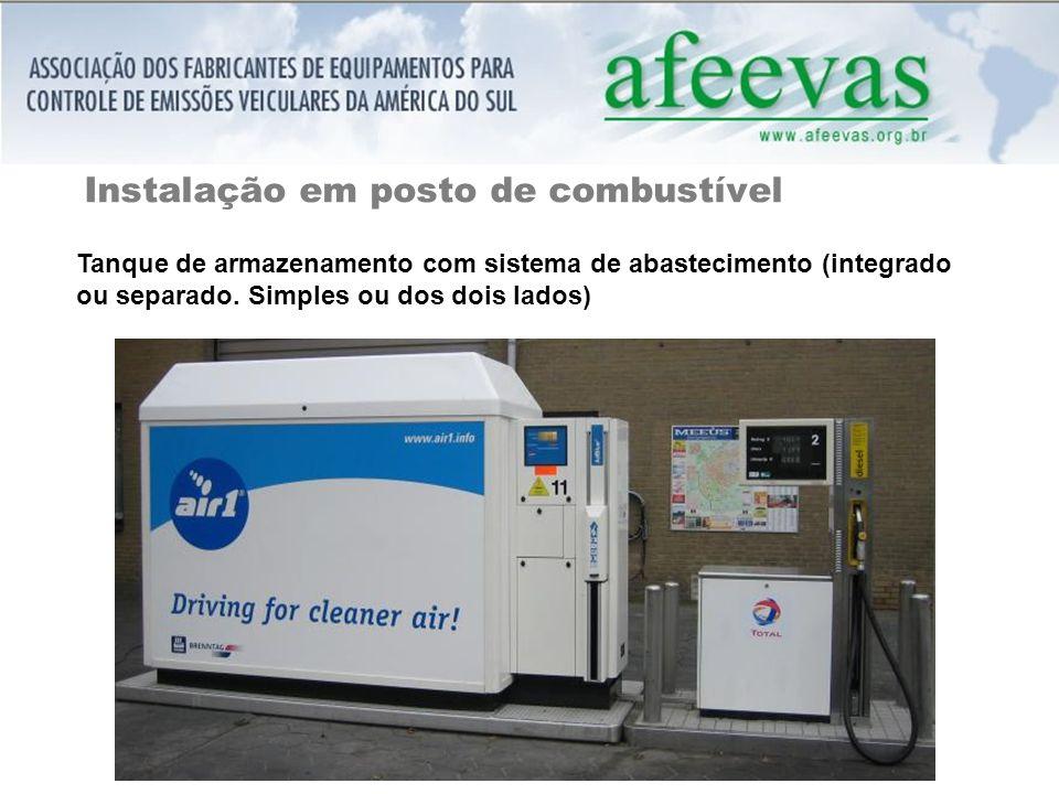 Instalação em posto de combustível