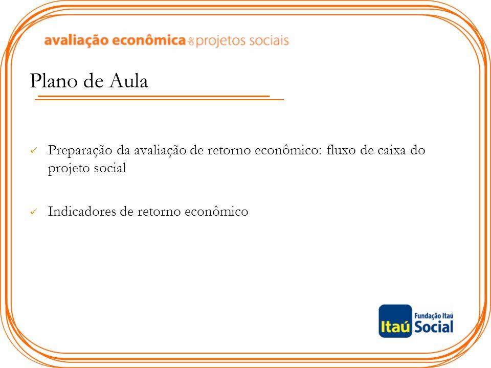 Plano de Aula Preparação da avaliação de retorno econômico: fluxo de caixa do projeto social.