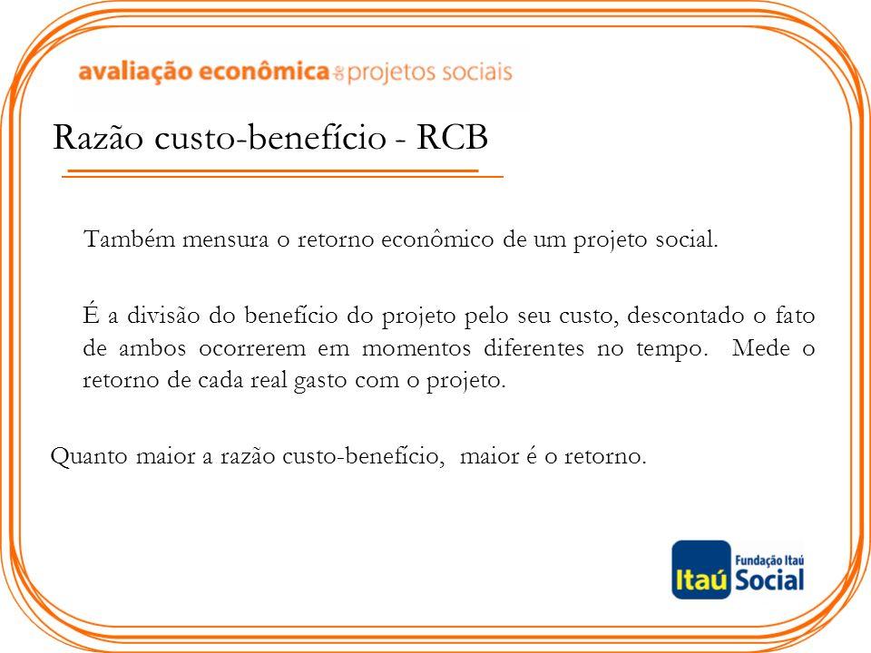Razão custo-benefício - RCB