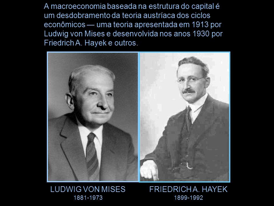 A macroeconomia baseada na estrutura do capital é um desdobramento da teoria austríaca dos ciclos econômicos — uma teoria apresentada em 1913 por Ludwig von Mises e desenvolvida nos anos 1930 por Friedrich A. Hayek e outros.