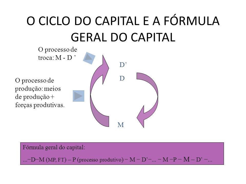 O CICLO DO CAPITAL E A FÓRMULA GERAL DO CAPITAL