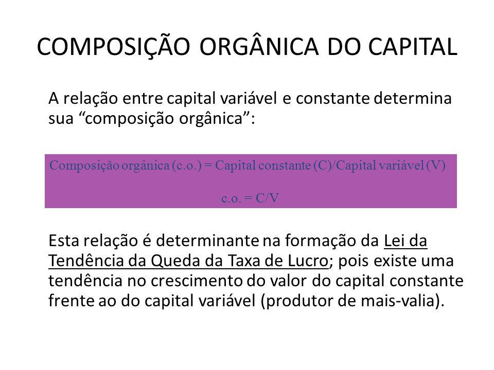 COMPOSIÇÃO ORGÂNICA DO CAPITAL