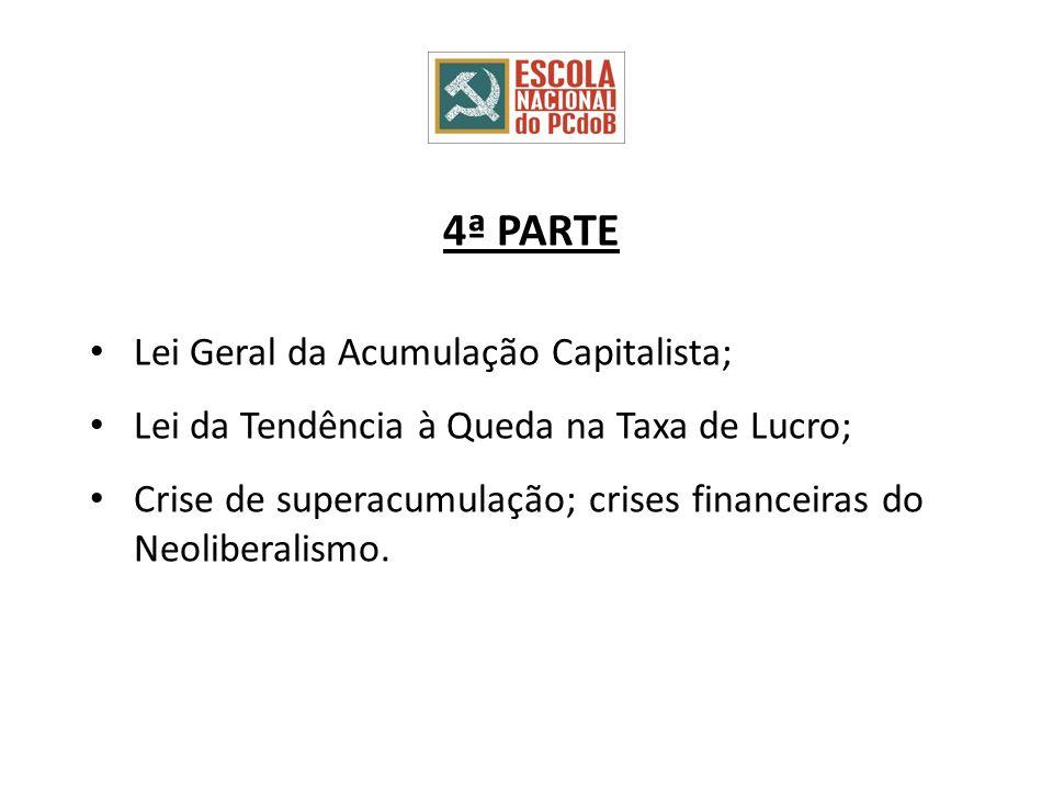 4ª PARTE Lei Geral da Acumulação Capitalista;