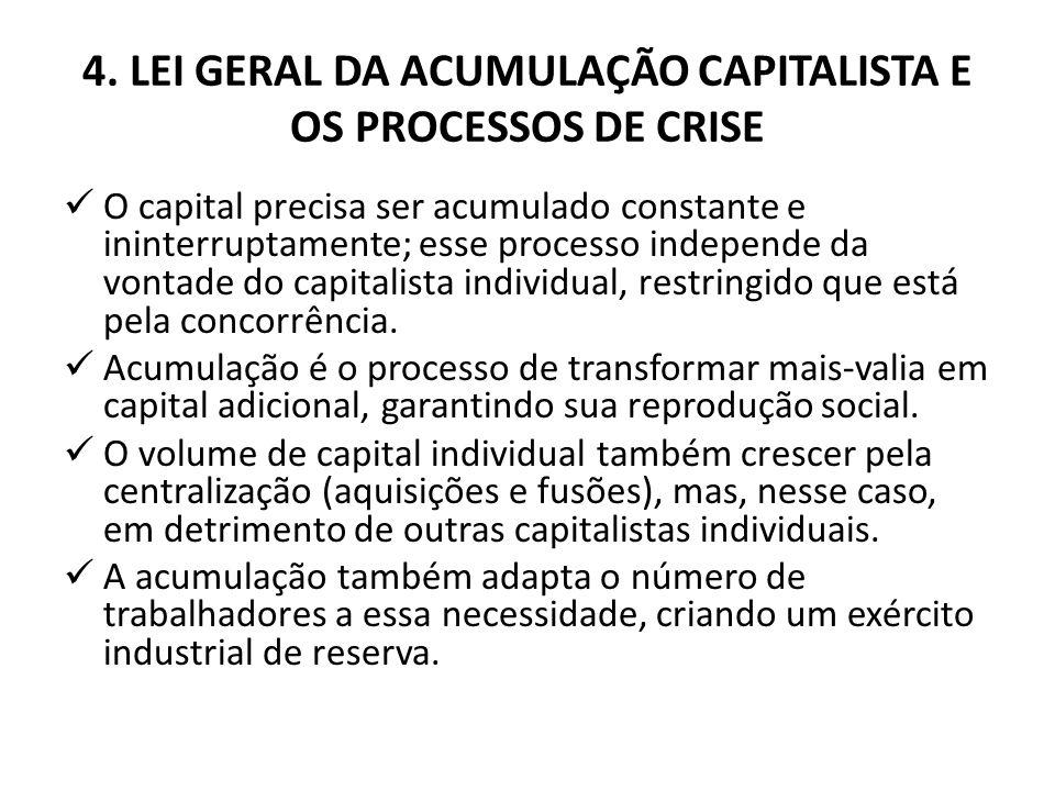 4. LEI GERAL DA ACUMULAÇÃO CAPITALISTA E OS PROCESSOS DE CRISE